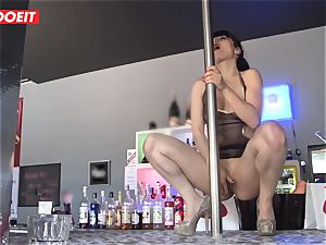 LETSDOEIT - French Stripper super-bitch group-fucked at Work
