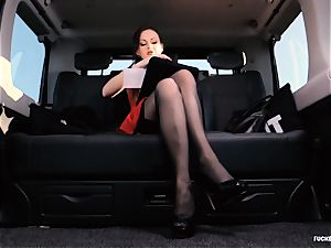 pounded IN TRAFFIC - british Tina Kay drilled in the car