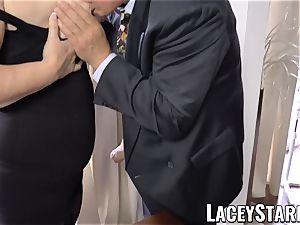 LACEYSTARR - nastiest granny analled before cum shot