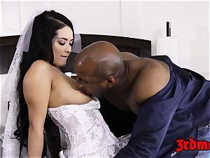cuckold bride creampied by a big black cock
