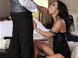 Takers pt 1 - Asa Akira ass rails senior mans enormous trouser snake