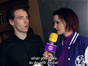booties BESUCH - German sex industry star Anike Ekina pulverizes newcomer