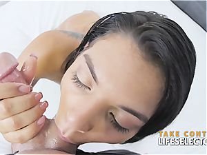 blow-job compilation with the best pornography stars
