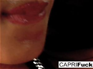 Capri Plays With Her wet twat And extraordinaire globes