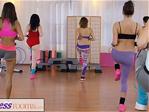 fitness apartments gym dolls have lesbo threeway