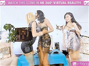VR porno - Alexis Seducing Her mates to Have a super hot sex