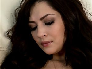 Cassie Laine likes taunting her delicious moist clitoris
