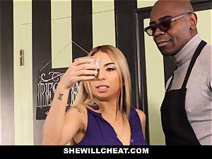 SheWillCheat - tart wifey Cheats With big black cock