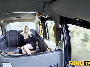 fake cab blond cougar Victoria Summers pounded in a cab