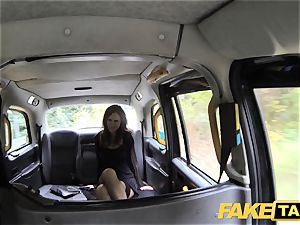 faux cab Posh femmes turgid snatch and butt banged