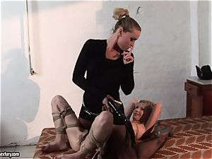 Kathia Nobili putting some clip in hot babe's cupcakes