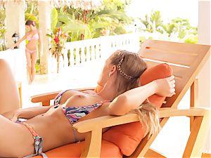 Madison Ivy and Nicole Aniston fuckbox fun in bikinis