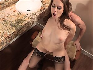 Cassidy Klein gets her labia drowned deep with salami