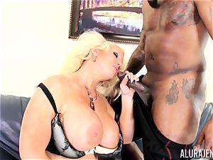 humungous big black cock Alura Jenson crammed deep