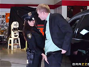 super-hot cop Ava Addams takes advantage of a chance take hold of