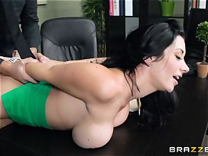 thick breasted boss Jayden Jaymes penetrates her new employee