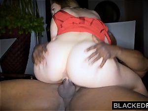 BLACKEDRAW big orb milky gal gets dual teamed by BBCs